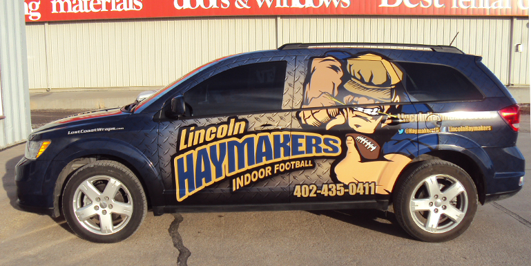 Premier graphics llc lincoln haymakers indoor football for Department of motor vehicles lincoln nebraska